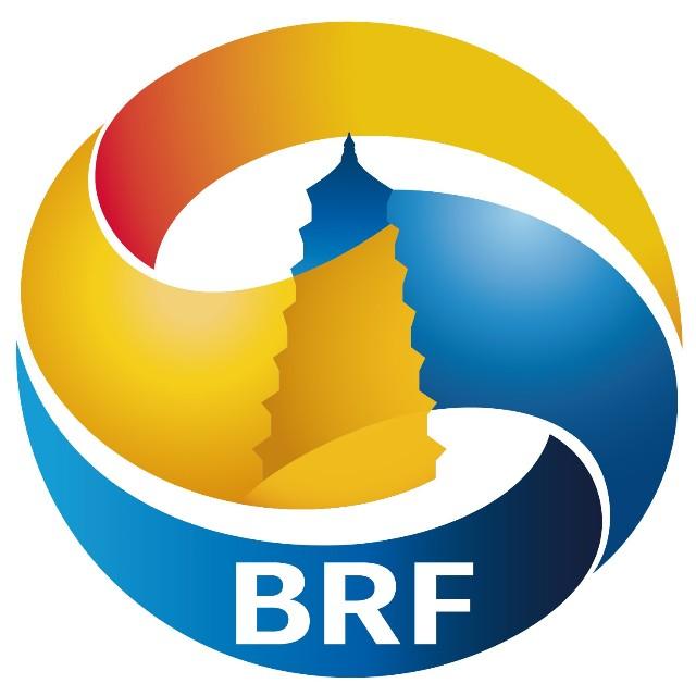 logo中间包含了丝绸之路重要节点城市古都西安的大雁塔形象.